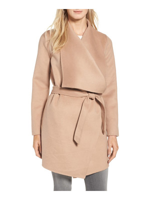 COLE HAAN SIGNATURE Double Face Wool Blend Wrap Coat