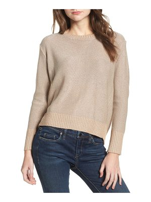 COTTON EMPORIUM Metallic Flyaway Back Sweater