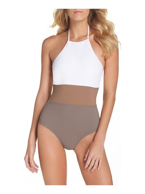 DIANE VON FURSTENBERG Halter One-Piece Swimsuit