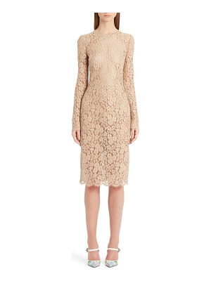 DOLCE & GABBANA Lace Sheath Dress