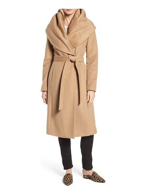 DONNA KARAN Dkny Wool Blend Shawl Collar Wrap Coat