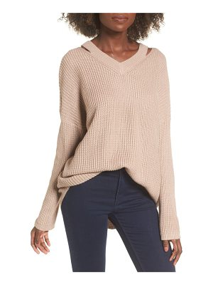DREAMERS BY DEBUT Cutout Neck Sweater