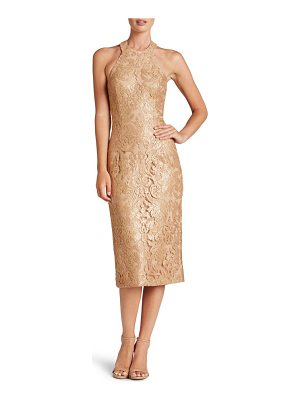 DRESS THE POPULATION Cassie Sequin Midi Dress
