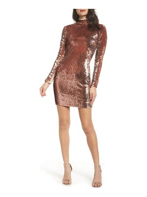 Dress the Population katy reversible sequin body-con dress