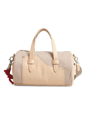 ED ELLEN DEGENERES Mini Carml Leather & Canvas Barrel Bag