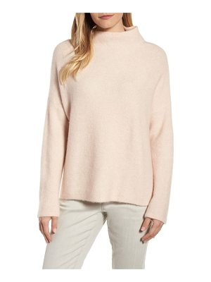 EILEEN FISHER 'Boucle Bliss' Cashmere & Silk Blend Funnel Neck Sweater