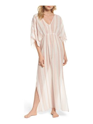 ELAN Stripe Cover-Up Caftan