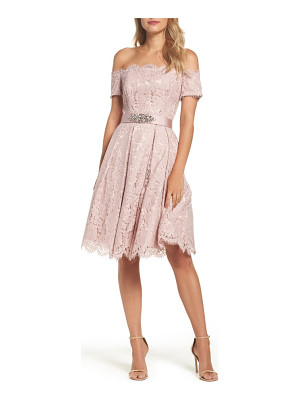 ELIZA J Embellished Lace Fit & Flare Dress