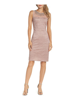 ELIZA J Metallic Sheath Dress