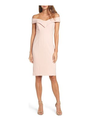 ELIZA J Portrait Collar Sheath Dress
