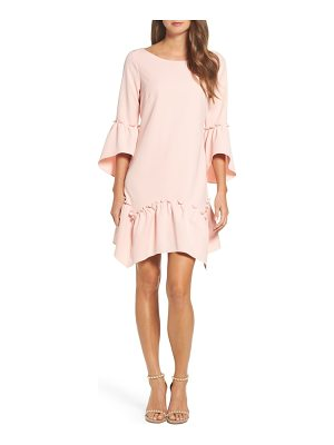 ELIZA J Ruffle Hem Shift Dress