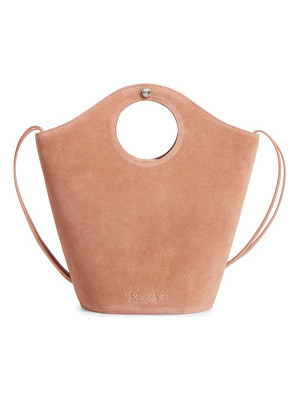 ELIZABETH AND JAMES Small Market Suede Shopper