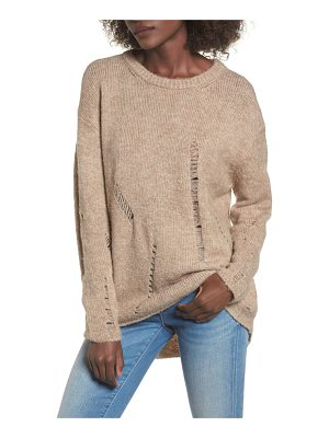 ELODIE Destroyed Tunic Sweater