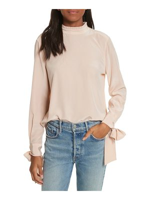 Equipment aurora tie sleeve blouse