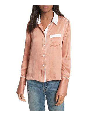 EQUIPMENT Huntley Contrast Silk Shirt