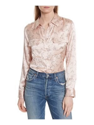 EQUIPMENT Slim Signature Print Silk Shirt