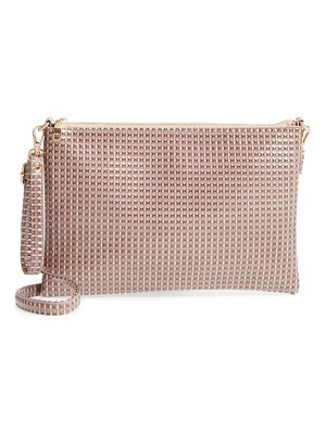 EVELYN K Large Textured Pouch Clutch