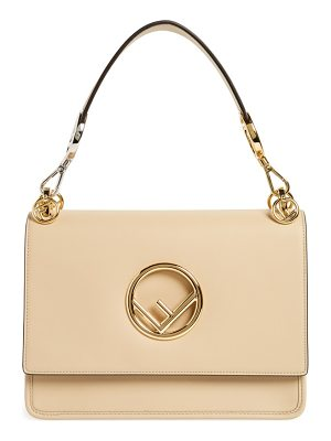 FENDI Kan I Calfskin Leather Shoulder Bag