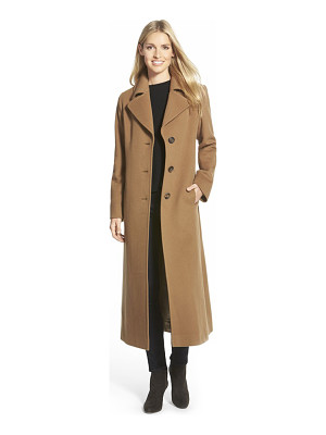 Fleurette long wool notch collar coat