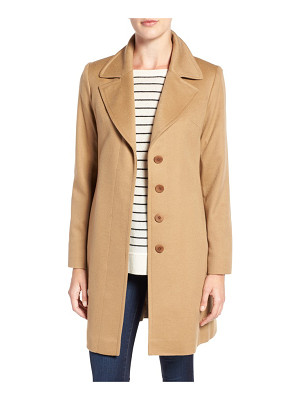 Fleurette notch collar lightweight cashmere coat
