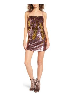 FOR LOVE & LEMONS Sparklers Sequin Minidress
