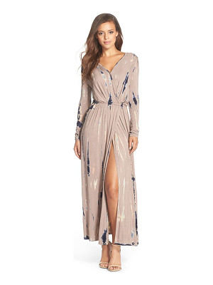FRAICHE BY J Tie Dye Faux Wrap Maxi Dress