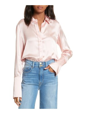 FRAME Long Cuff Silk Shirt