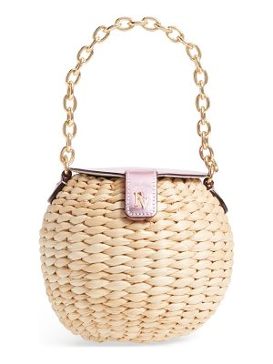 FRANCES VALENTINE Mini Straw Bucket Bag
