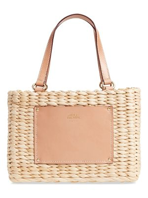 Frances Valentine small woven straw shopper