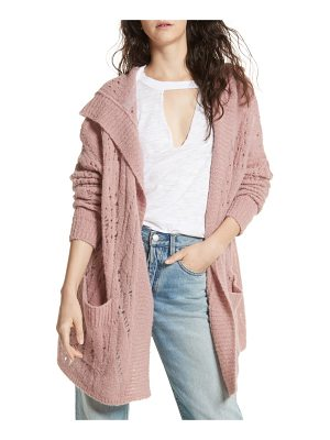 FREE PEOPLE Lemon Drop Hooded Cardigan