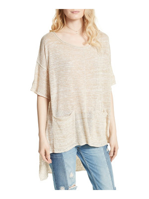 Free People light bright high/low sweater