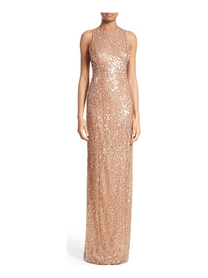 Galvan London sequin racerback gown