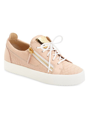 GIUSEPPE ZANOTTI 'May London' Snake Embossed Low Top Sneaker