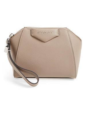 Givenchy 'antigona' leather zip pouch