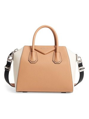 Givenchy medium antigona bicolor sugar leather satchel