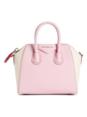 GIVENCHY Mini Antigona Bicolor Sugar Leather Satchel