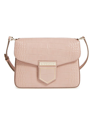 Givenchy nobile croc embossed leather crossbody bag