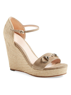 GUCCI Carolina Ankle Strap Wedge