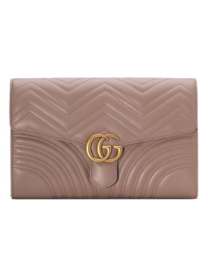 GUCCI Gg Marmont 2.0 Matelasse Leather Clutch