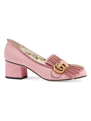 GUCCI Gg Marmont Crystal Embellished Pump