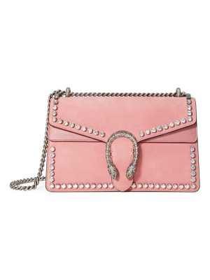 Gucci small dionysus crystal embellished suede shoulder bag