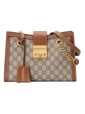 GUCCI Small Padlock Gg Supreme Shoulder Bag