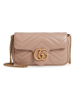 Gucci supermini gg marmont 2.0 matelasse leather shoulder bag