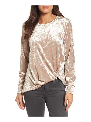HalogenR halogen crushed velvet front tie top