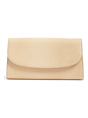 HALOGENR Halogen Curved Flap Leather Clutch