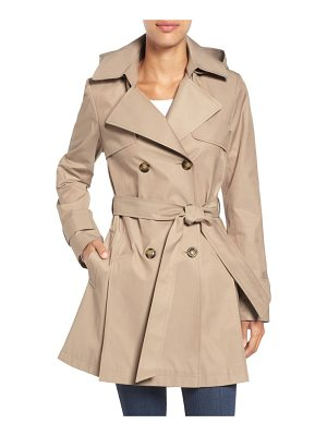 HALOGEN Halogen Detachable Hood Trench Coat
