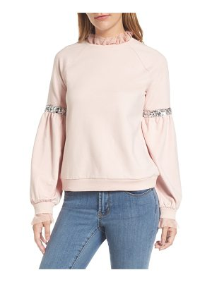 HalogenR halogen tulle and sequin sweatshirt