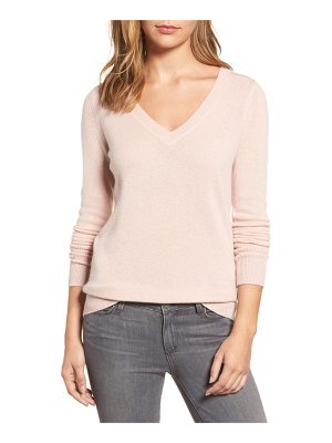 Halogen halogen v-neck cashmere sweater