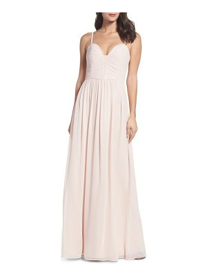 Hayley Paige Occasions ruffle detail a-line chiffon gown