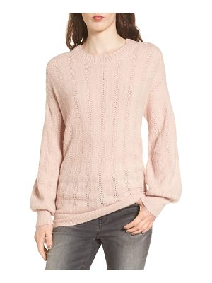 HINGE Open Back Sweater